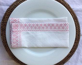 Set of 6 Vintage Table Napkins