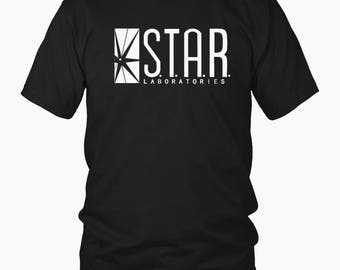 Star Laboratories Shirt (All Sizes) - Star Labs Shirt - The Flash DC Barry Allen Laboratories Star Labs T-Shirt - Star Laboratories Tee