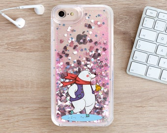 iPhone 7 Case iPhone 8 Case iPhone 8 Plus Glitter Case iPhone 7 Plus Case iPhone 6S Xmas Case i YZ1110