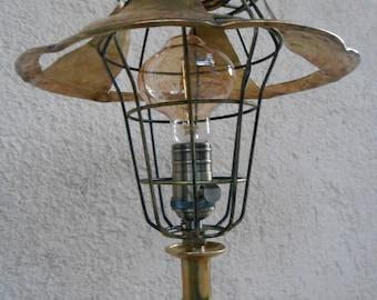 VINTAGE LAMP / Bohemian lamp / Eclectic table lamp / Recycled handmade lamp / Industrial lamp