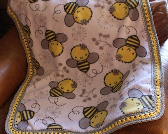 Bumble Bee Baby, Toddler Blanket