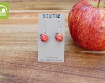 Cute Red Apple Earrings