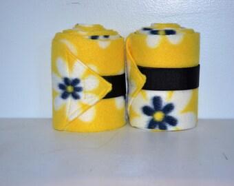 TWO flowerd HORSE or PONY polo wraps