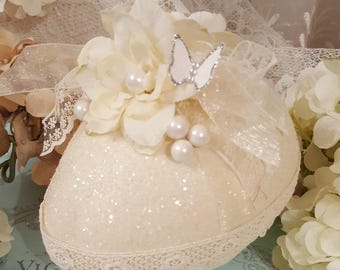 Romantic Ivory Decorative Egg - Small