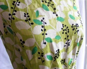 Vintage Laura Ashley Floral Summer A Line Dress - Green - Kew Garden Collection UK 12