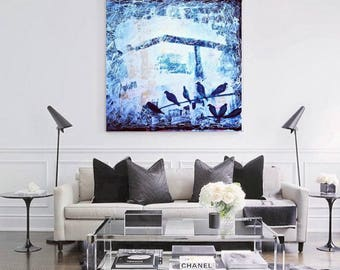 Acrylic Painting Abstract Canvas Handmade Original Painting Multi Sizes Made To Order By Ron Deri.  art for office oil  art work painting