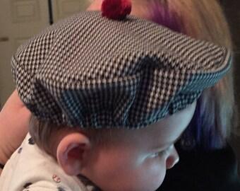 Houndstooth & Crimson Alabama Baby Bear Golf Tam Hat for Crimson Tide Fans