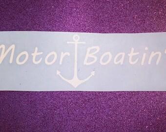 Motorboating Decal, Car Decal, Sticker, Laptop, Lake, Ocean, Motor Boating