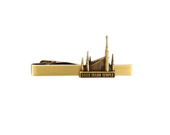 Boise Idaho Temple Gold Tie Bar - LDS Gifts