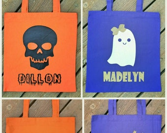Personalized Halloween Tote Bag, Personalized Halloween Bag, Trick or Treat Bag, Halloween Bag, Personalized Tote Bag, Halloween Tote Bag