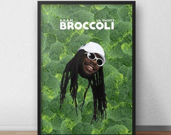 D.R.A.M Poster, Broccoli Poster, DRAM, Hip Hop Poster, D.R.A.M Merch, dram broccoli, Hip Hop, Broccoli, Big Baby DRAM