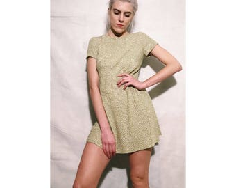 Green Dot Shift Dress