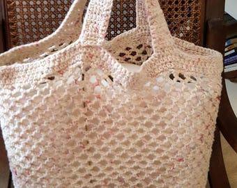 Crochet Market Bag, Tote Bag, Reusable Shopping Bag, Eco-Friendly