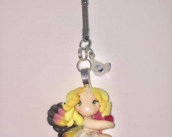 Key ring with Rainbow Butterfly doll