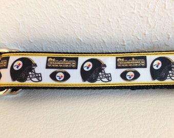 Martingale Dog Collar, Medium Black and Gold Martingale Collar, Medium Steelers Martingale Dog Collar, Medium Adjustable Dog Collar