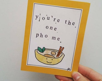 you're the one pho me / handmade card