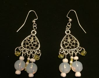 Moonstone Antique Chandelier Fish hook Earrings