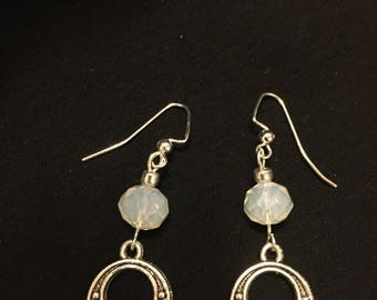 Moonstone  Antique Earrings