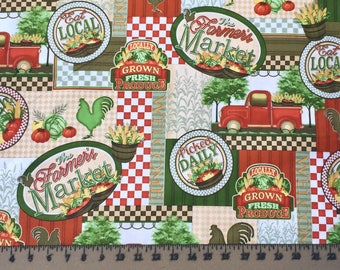 Quilting Treasures Farmer Market 24815 Cotton Fabric By the Yard