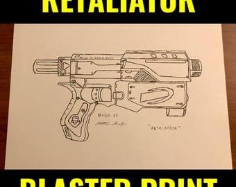 """Nerf Retaliator Print 8.5""""x11"""""""
