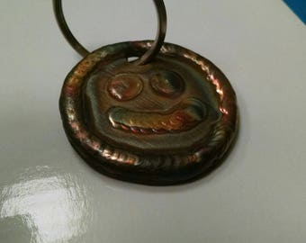 Smiley Face Tig Welded Stainless Steel Keychain