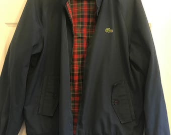 Vintage IZOD Lacoste Blue Harrington Jacket
