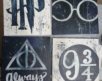 Harry Potter Canvases (Set of 4)