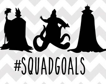 Disney Villains Squad Goals svg, Villain svg, Disney squad goals svg, Disney svg, ursula, maleficent, cricut, silhouette, svg, png, Shirt