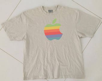 Apple computers T shirt Big Logo steve jobs size XL
