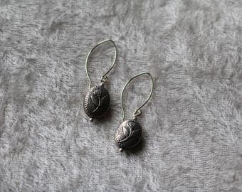 Sterling Silver Floral Bead Earrings, Bracelet and Necklace