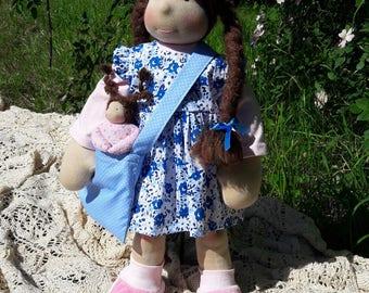 "Amanda - 18"" Waldorf Inspired Doll, ECO, Handmade"