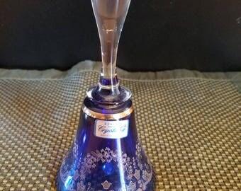 Czech Bohemia glass table bell