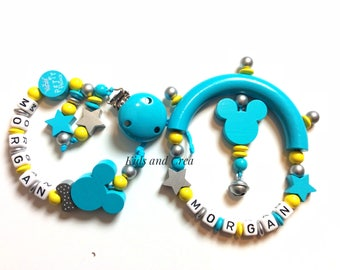 Pacifier clip pacifier and rattle is customizable