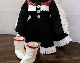Vintage Shirley Temple Doll Outfit Ideal Cowgirl #9718 Dress Boots 12 Inch Vinyl