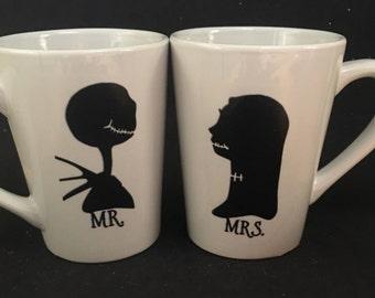 Mr. and Mrs. Jack and Sally Mug