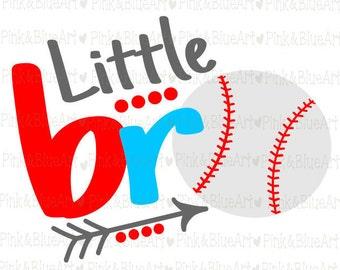 Little  bro baseball SVG Clipart Cut Files Silhouette Cameo Svg for Cricut and Vinyl File cutting Digital cuts file DXF Png Pdf Eps
