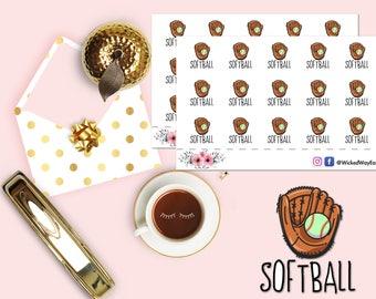 Softball Planner Sticker, Baseball Planner Stickers, Sports Reminder Sticker, Tournament Sticker, Scrapbook Stickers, Planner Accessories