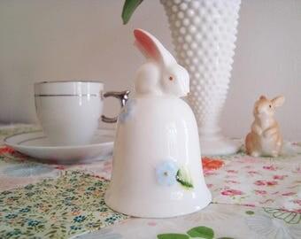 Vintage Treasure Masters Bunny Rabbit Ceramic Porcelain Bell - Made in Taiwan