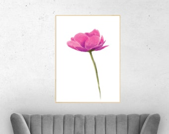 Home decor wall art, floral decal, floral canvas print, floral wall art, new house decoration, canvas art, flowers painting canvas,