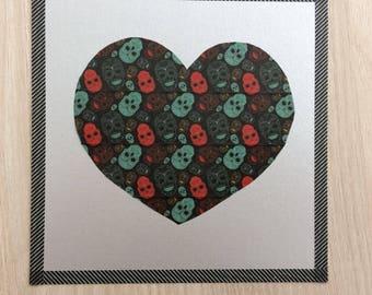 Gothic heart card