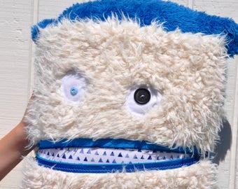 Blue Triangle Monster Pillow & Blanket