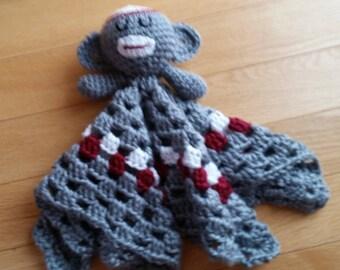 Crocheted Sock Monkey Lovey