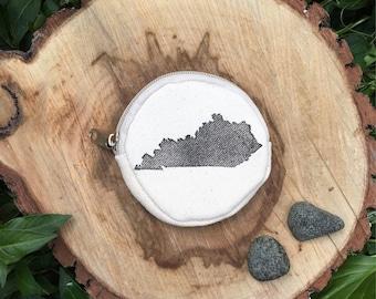 Hand printed Louisville Kentucky coin purse
