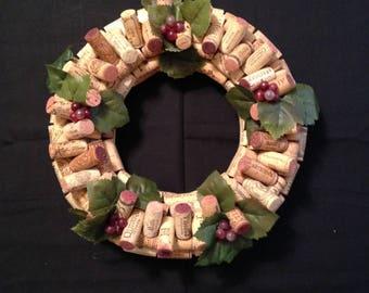Wine Cork Wreath - All Natural Corks - Handmade
