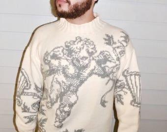 Winged Putti Sweater
