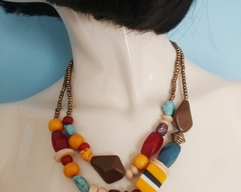 Funky Chunky Beaded Necklace