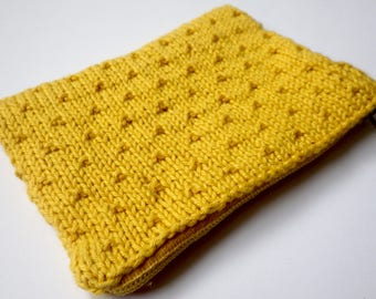 Organic cotton mustard yellow wallet