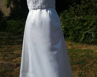 Duchess satin wedding dress. One off