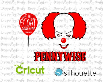 It Movie Pennywise clowndesign svg png jpeg download