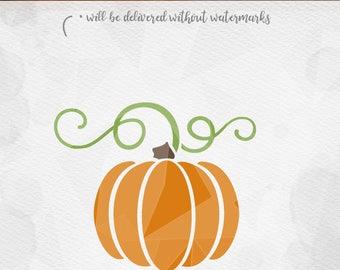 Pumpkin SVG - Cricut Silhouette - pdf png svg dxf - Harvest Autumn Cut File SVG, Fall SVG, Pumpkin Svg, Pumpkin Stem